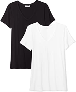 Amazon Brand - Daily Ritual Women's Jersey Short-Sleeve V-Neck T-Shirt