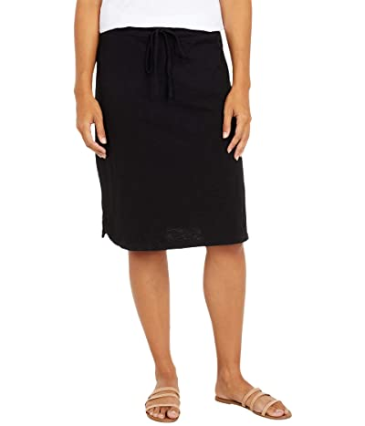 Mod-o-doc Slub Jersey Drawstring Skirt (Black) Women