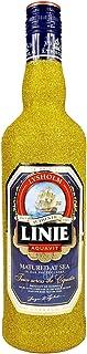 Linie Aquavit Norwegische Spezialität 0,7l 700ml 41,5% Vol - Bling Bling Glitzerflasche in gold -Enthält Sulfite