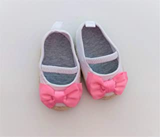 Kirit Born Baby Girl Booties 0 to 12 Month Set of 3 Baby Booties for Fancy Shoe for New Born Baby boy and Girl