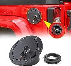 RT-TCZ Fuel Filler Door Gas Tank Cap Cover Accessories for 2007-2017 Jeep Wrangler JK & Unlimited Sport Rubicon Sahara (JK Gas Cap with Lock)