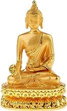 Prettyia Alloy Buddha Statue Buddhism Figurine Bless Family Health Safety Home Decor