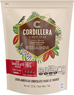 Cordillera   Dark Chocolate Couverture   Cacao 70%   2.2 Lb, Pack of 1   Ecuador Single Origin   Real & Sustainable Chocol...
