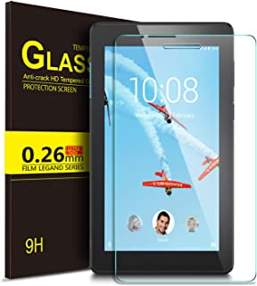 IVSO Screen Protector for Lenovo TAB E7, Scratch-Resistant No-Bubble 9H Hardness HD Clear Tempered Glass Screen Protector for Lenovo TAB E7 inch 2018 Released Tablet