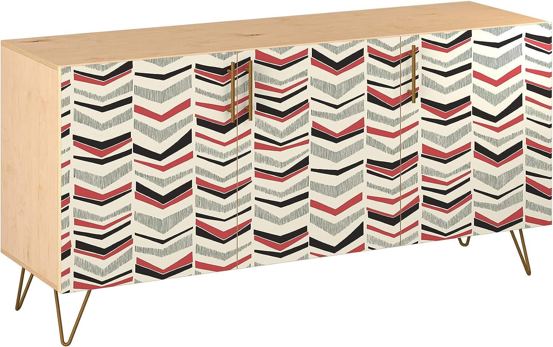 Poppy Sideboard - Natural Velma Design Award 5 Base Columbus Mall 11 Colors in Sty