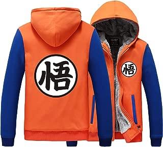 Poetic Walk Anime Dragon Ball Z Son Goku Thicken Jacket Fleece Winter Hoodie