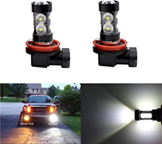 Extremely Bright Max 50W High Power H11 H8 H16 H11LL H8LL LED Fog Light Bulbs for Daytime Running Light or Fog Lights
