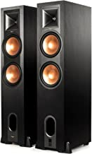 Klipsch R-28PF Surround Powerful Floor Standing Home Speaker, Set of 2, Black