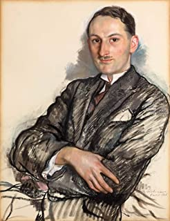 Berkin Arts Zinaida Serebriakova Giclee Canvas Print Paintings Poster Reproduction(Portrait of Félicien Cacan) Large Size30 x 39 inches
