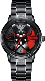 Andoer Quartz Watch with Stainless Steel Strap Fashion Multifunction Wristwatch 3ATM Watches for Men Boys
