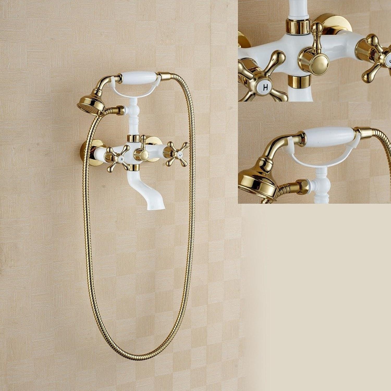Saejj-shower Wasserhhne Negativ Ion Dusche Wand Type Multifunktional tragbar Kupfer und wei Wasser Speichern Booster Dusche Dusche Set