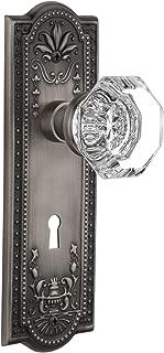 Nostalgic Warehouse Meadows Plate with Keyhole Waldorf Crystal Knob, Privacy - 2.75