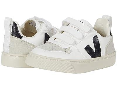 VEJA Kids V-10 Velcro (Toddler) (White/Black) Kids Shoes