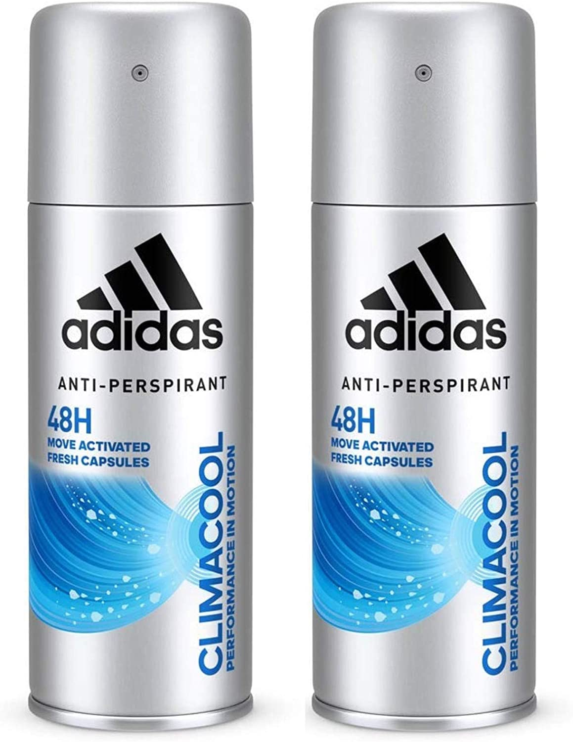 adidas Climacool Deodorant Spray, Antiperspirant Deodorant with Fresh Fragrance and Long-lasting Protection Against Sweat, pH Skin-Friendly, 2 x 150 ...