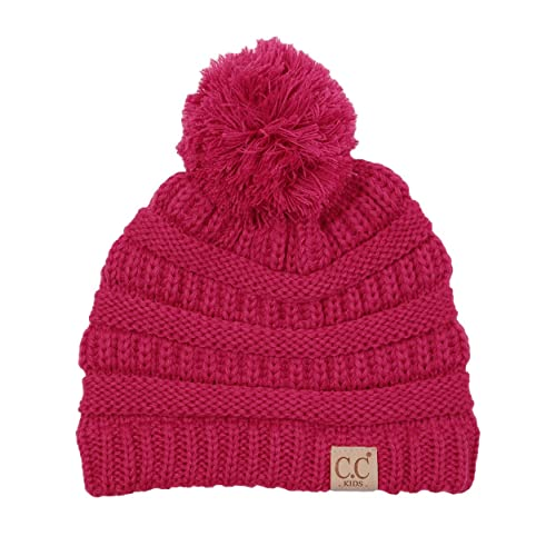 Funky Junque Kids Baby Toddler Cable Knit Children s Pom Winter Hat Beanie d1a1a832e59