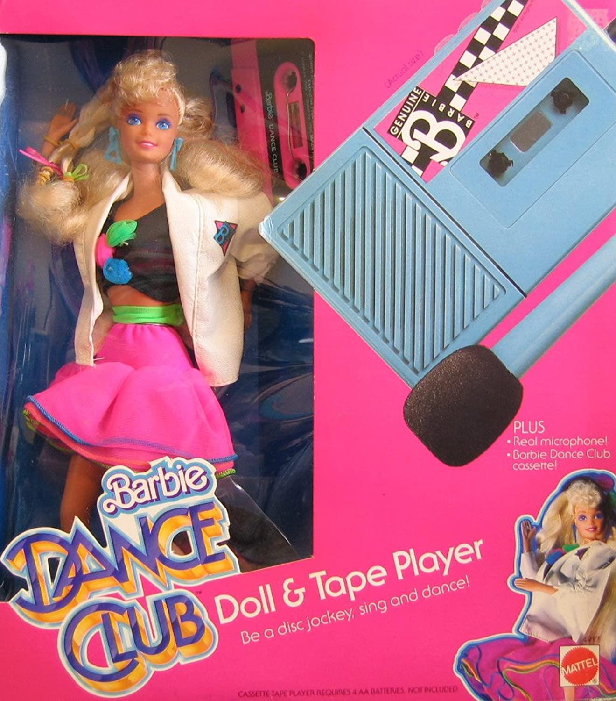 promocionales de incentivo BARBIE DANCE CLUB Doll & TAPE Jugarset w DOLL, DOLL, DOLL, CASSETE JugarER w Real MICROPHONE & More  (1986)  clásico atemporal