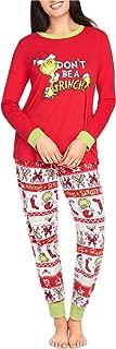 Womens The Grinch Pajama Set Dont Be Grinch Holiday Pjs Sleepwear Set