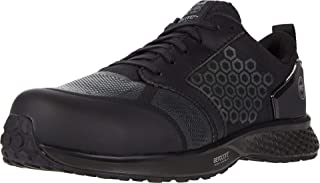 Timberland PRO Men's Reaxion Athletic Composite Toe Work Shoe, Black/Grey, 11 Wide