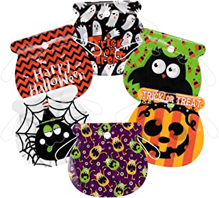 Amosfun Halloween Drawstring Goody Bags 72PCS Assorted Trick or Treat Candy Bags for Kids Party Favors,Treat Gift Bags,Sna...