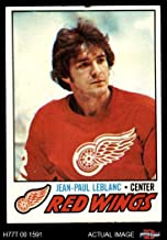 1977 Topps # 133 J.P. LeBlanc Red Wings (Hockey Card) Dean's Cards 3 - VG Red Wings