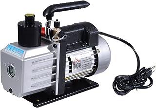 HOMCOM Single Stage 7 CFM Rotary Vane Vacuum Pump - Black/Silver