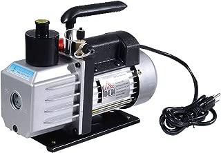 HomCom Single Stage 7 CFM Rotary Vane 1/2 HP HVAC Refrigerant Vacuum Pump