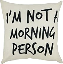 Arundeal I Am Not A Morning Person 18 x 18 Inch Cotton Linen Square Throw Pillow Cases Cushion Cover