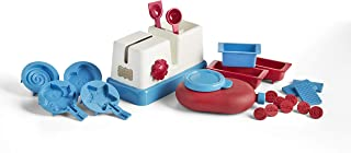 FAO Schwarz 1005551 Deluxe Chocolate Candy Maker Station Toy Set, Craft Delicious Sweets with A Variety of Silicone Molds, with Squeezer Bottle, Blue Red