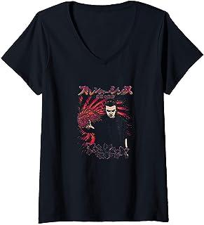 Femme Stranger Things Eleven Using Powers Kanji Poster T-Shirt avec Col en V