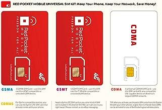 red pocket cdma sim card