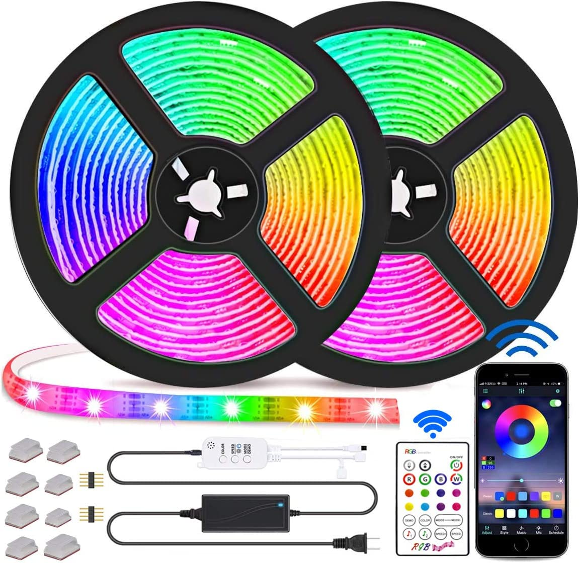 Led Strip SEAL limited product Lights RGB Light Max 71% OFF SMD Con 5050 Bluetooth App