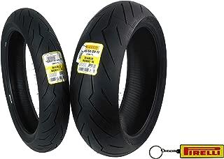 Pirelli Diablo Rosso III Front & Rear Street Sport Motorcycle Tires Rosso Three Rosso 3 (120/70ZR17 190/50ZR17)