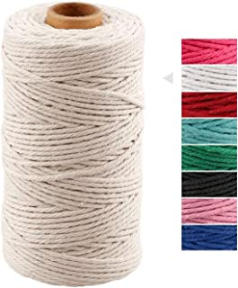 3 MM Macrame Cord,Strong Food Safe Cotton Cooking String for Tying Meat, Baking, DIY Crafts, Gifts Making Sausage and Pack...