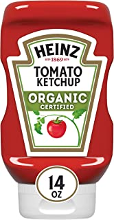 Heinz Organic Tomato Ketchup, 14 ounce Easy Squeeze Bottle(Pack of 6)