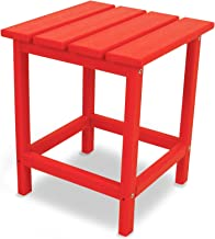 "POLYWOOD ECT18SR Long Island 18"" Side Table, Sunset Red"