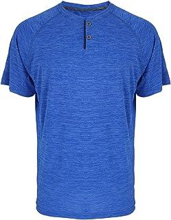 Facitisu Men`s Henley Shirts Slim Fit Short Sleeve Performance Buttons Placket Casual Summer T Shirts