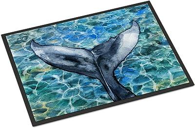 Caroline's Treasures Whale Tail Doormat, BB5337JMAT, Multicolor, 24 H x 36 W
