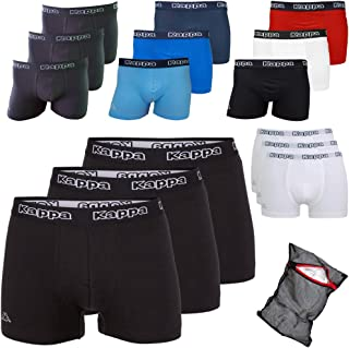 Kappa Ziatec Edition Men's Boxer Shorts, with Practical Washing Net, Pack of 3, 6 and 9, S - 5XL