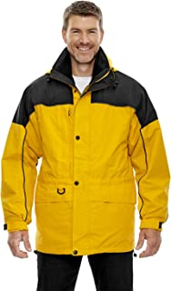 XXX-Large RYAL COBALT 714 North End Mens 3-In-1 Two-Tone Zip-Off Hood Parka