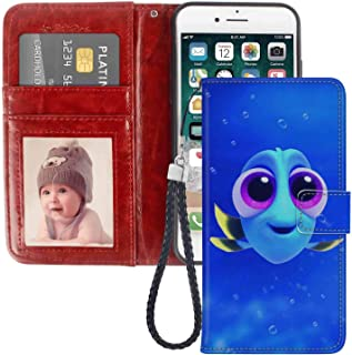 Wallet Case Fits for Apple iPhone 6 Plus iPhone 6s Plus Baby Blue Dory Finding Fish Nemo