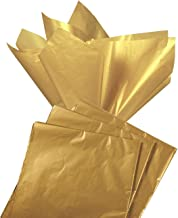 Gift Wrapping Tissue Paper - 60-Sheet Antique Gold Metallic Gift Wraps Color Tissue Papers Pack - Perfect for Gift Bags, DIY Crafts, 19.7 x 26 Inches