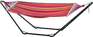 comprar comparacion AMAZONAS Beach Set-Hamaca, Multicolor, 100 kg, Fuchsia Rojo Púrpura Amarillo, 304x91.5x78.5 cm