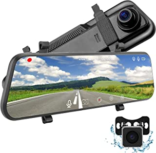 """$99 » Sponsored Ad - 2.5K Mirror Dash Cam for Cars with 10"""" IPS Full Touch Screen, Night Vision , Waterproof Rear View Camera, S..."""