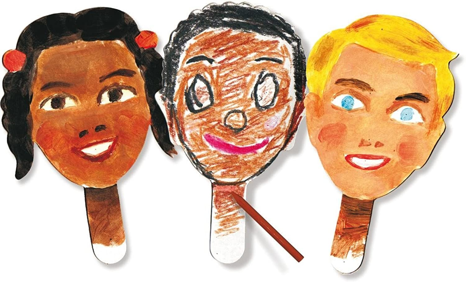 Roylco R22045 Paddle Puppets, (Pack of 24)