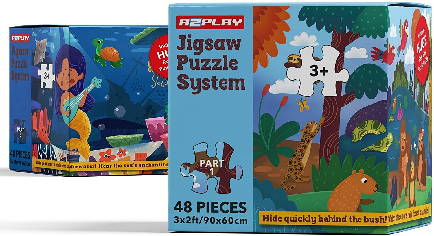 A2PLAY USA Bundle of 2 Fashion Innovative Kids Puzzle Ranking TOP19 48 Floor Piece for