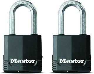 Master Lock Padlock, Magnum Covered Laminated Steel Lock, 1-7/8 in. Wide, M115XTLF (Pack of 2-Keyed Alike)