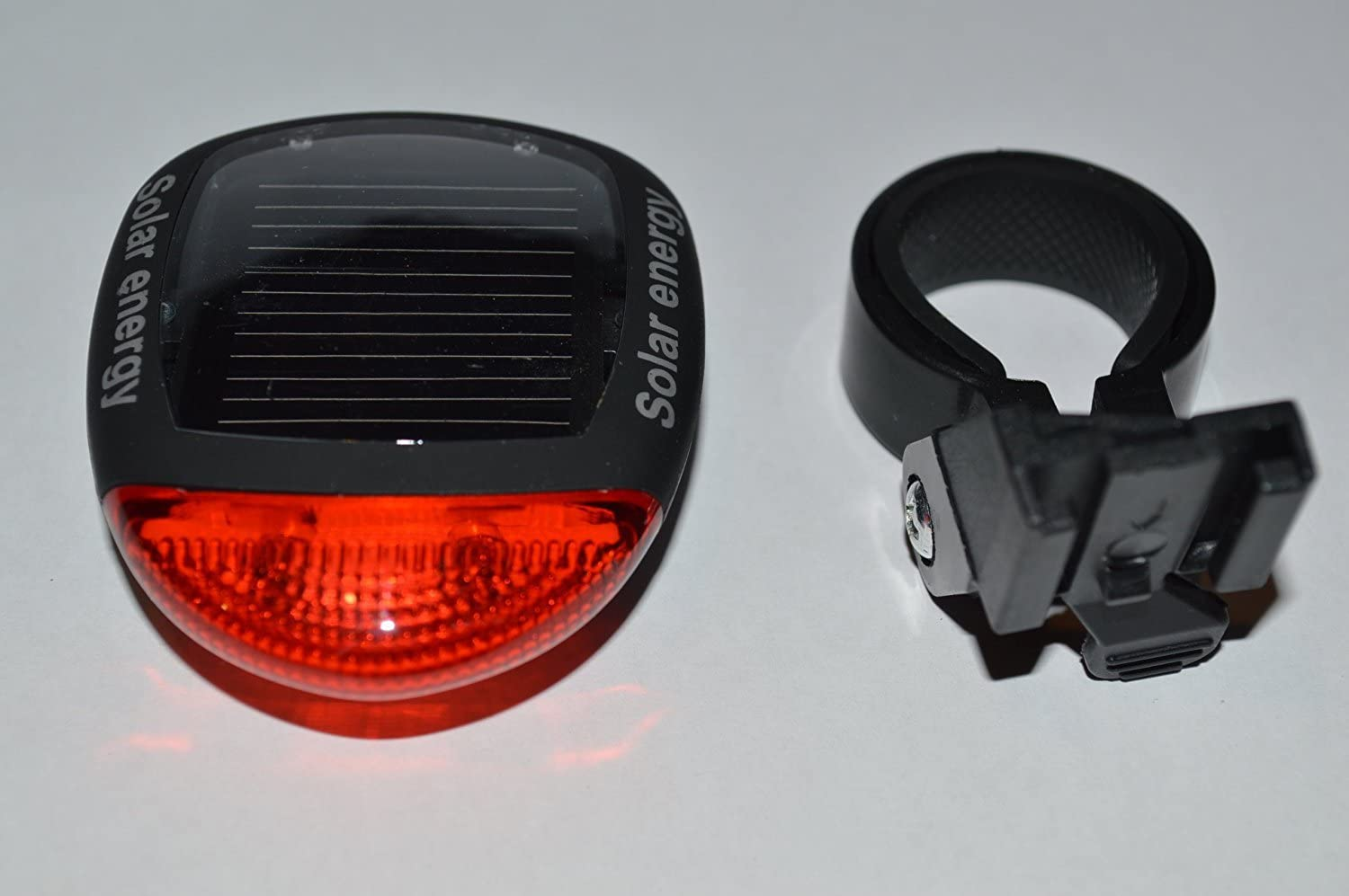 Solar Powered Light Cycling Bike Bicycle Tail Rear Taillight 2 LED Flashing Lamp