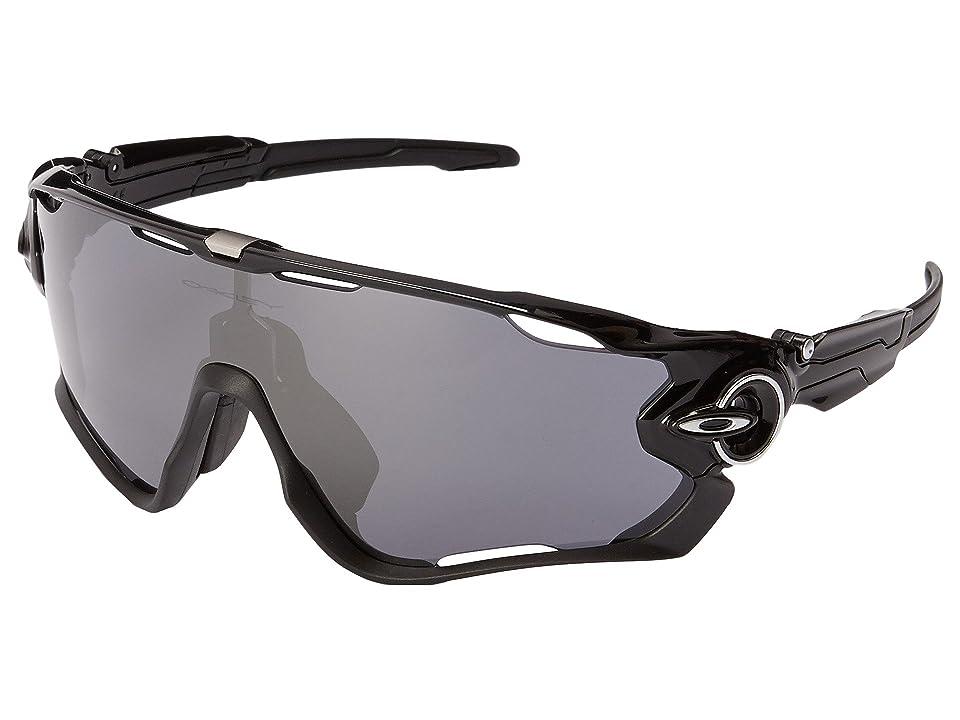 Oakley (A) Jawbreaker (Polished Black W/Black Iridium) Sport Sunglasses