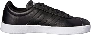 adidas WoMen's VL Court 2.0 Shoes, Core Black/Core Black/Silver Metallic, 8.5 US (8.5 AU)