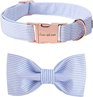 unique style paws Dog Collar with Detachable Bow tie, Adjustable Dog Collars with Bow for Small Medium Large Dogs or Cats XXS-XL